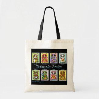 Maneki Neko Good Luck Cats Fantasy Cat Art Bag