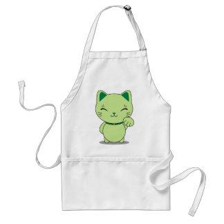 Maneki Neko - Green Lucky Cat Apron