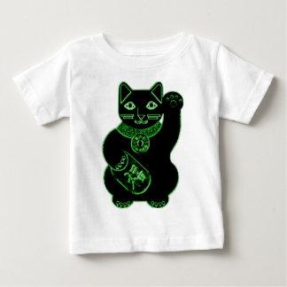 maneki neko green neon baby T-Shirt