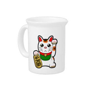 Maneki Neko: Japanese Lucky Cat Beverage Pitcher