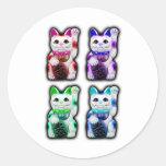 Maneki Neko JAPANESE money CAT Classic Round Sticker