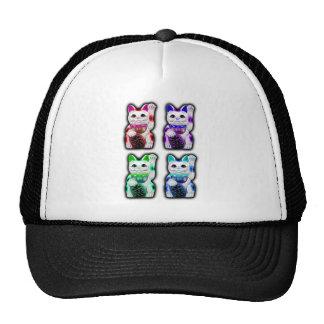 Maneki Neko JAPANESE money CAT Trucker Hat
