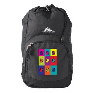 Maneki Neko Kitty Cat Pop Art Backpack