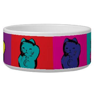 Maneki Neko Kitty Pop Art Bowl