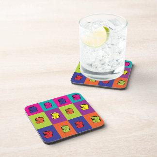 Maneki Neko Kitty Pop Art Cork Coaster