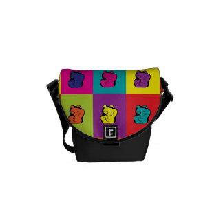 Maneki Neko Kitty Pop Art Mini Messenger Bag