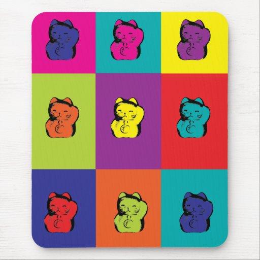Maneki Neko Kitty Pop Art Mousepad