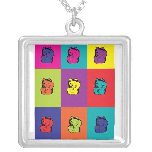Maneki Neko Kitty Pop Art Necklace