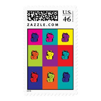 Maneki Neko Kitty Pop Art Stamp