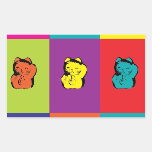 Maneki Neko Kitty Pop Art Sticker
