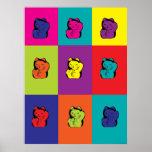 Maneki Neko kitty rainbow poster