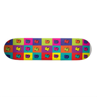 Maneki Neko Kitty Rainbow Skateboard