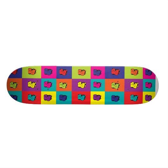 Maneki Neko Kitty Rainbow Skateboard