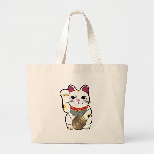 Maneki Neko Large Tote Bag