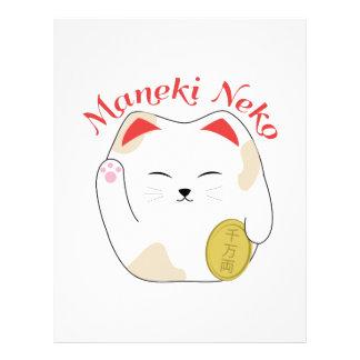 Maneki Neko Customized Letterhead