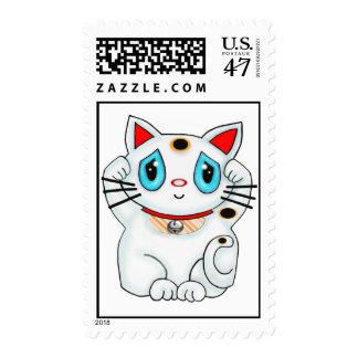 Maneki Neko Lucky Beckoning Cat Postage