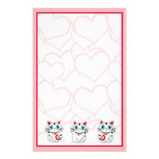 Maneki Neko Lucky Beckoning Cats Stationery