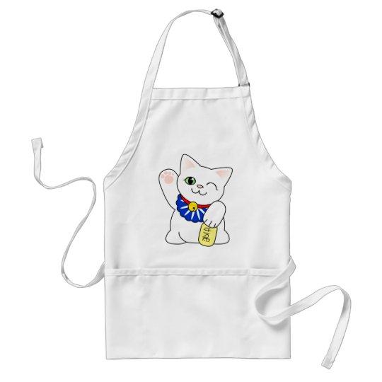 Maneki Neko Lucky Cat Adult Apron