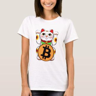 Maneki Neko Lucky Cat Bitcoin Double Paw T-Shirt