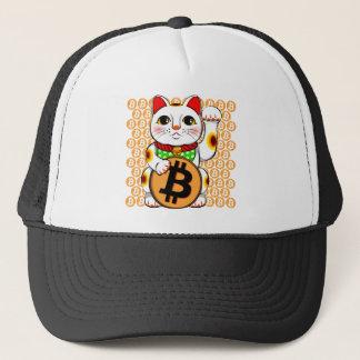 Maneki Neko Lucky Cat Bitcoin Left Paw Trucker Hat