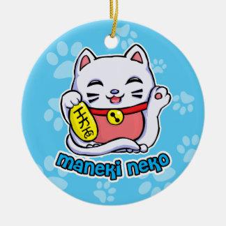 Maneki Neko lucky cat Ceramic Ornament