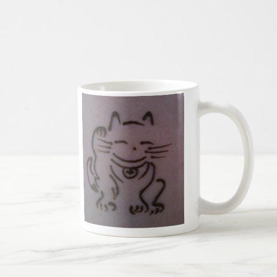 Maneki Neko (Lucky Cat) Henna Mug