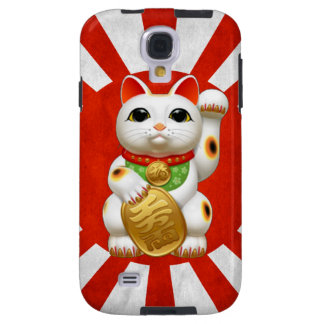 maneki-neko lucky cat japanese charm talisman welc galaxy s4 case
