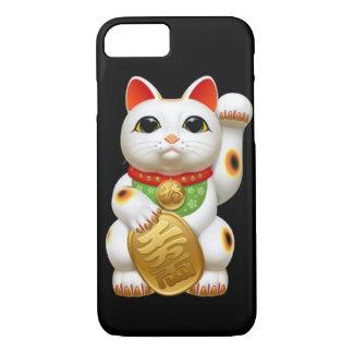 maneki-neko lucky cat japanese charm talisman welc iPhone 8/7 case