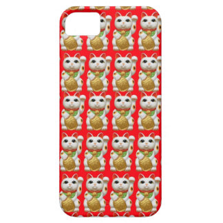 maneki-neko lucky cat japanese charm talisman welc iPhone SE/5/5s case