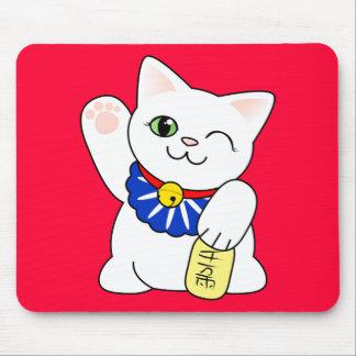 Maneki Neko Lucky Cat Mouse Pad