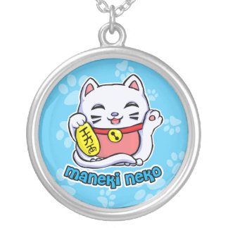Maneki Neko lucky cat Necklaces