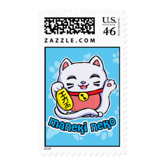 Maneki Neko lucky cat Postage