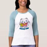 Maneki Neko Lucky cat Tee Shirts