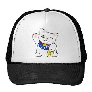 Maneki Neko Lucky Cat Trucker Hat