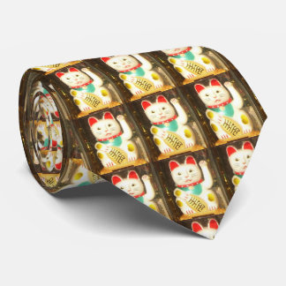 Maneki-neko, Lucky cat, Winkekatze Neck Tie