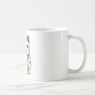 Maneki Neko Classic White Coffee Mug