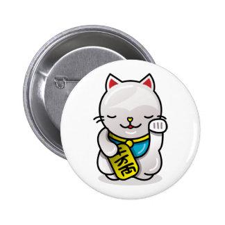 maneki neko (NEW!) 2 Inch Round Button