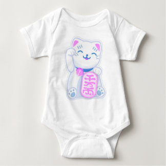 maneki neko pastel baby bodysuit