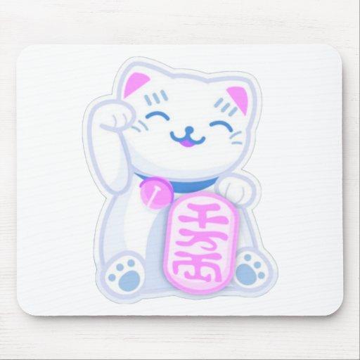 maneki neko pastel mouse pad