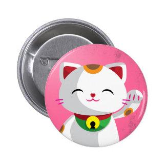 Maneki Neko Pin Redondo 5 Cm