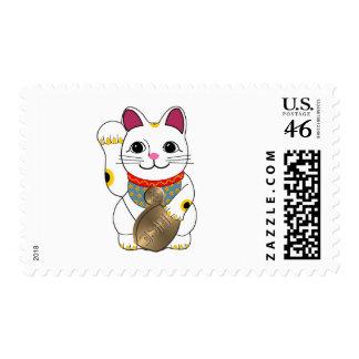 Maneki Neko Postage Stamp