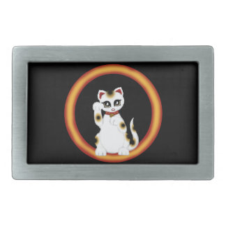 Maneki Neko Rectangular Belt Buckle