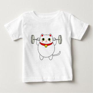 Maneki Neko Squatting Cat Baby T-Shirt