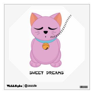 Maneki Neko Sweet Dreams Cat  - SRF Wall Decals