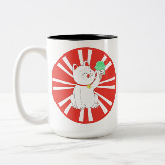 Maneki Neko Tokyo Cat Two-Tone Coffee Mug