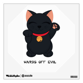 Maneki Neko Wards Off Evil Cat  - SRF Wall Sticker