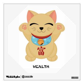 Maneki Neko Wealth Cat  - SRF Wall Sticker