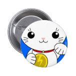 Maneki Neko - White Lucky Cat Pins
