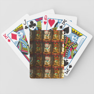 Maneki-neko Winke-Glueckskatzen, Winkekatze Bicycle Playing Cards