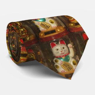 Maneki-neko, Winke-Glueckskatzen, Winkekatze Corbata Personalizada